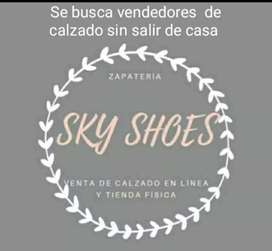Necesito vendedores de calzado en linea.