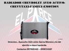 RADIADOR $35 CONDENSADOR DE AIRE $40 AVEO ACTIVO CHEVYTAXI FAMILY AVEO EMOTION