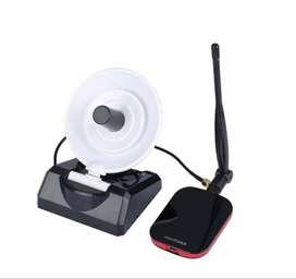 Tarjeta Inalambrica USB + Antena dbi Bidireccional + Antena dbi Direccional plato