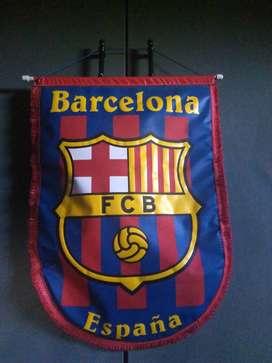 Lona del FC Barcelona para colgar