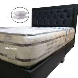 Combo Full Colchón Ortopédico Premium 140x190x30 + Base cama + Espaldar + Envio Bta.