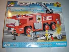 Camión de Bomberos Cobi / lego Nuevo 420 Pzs