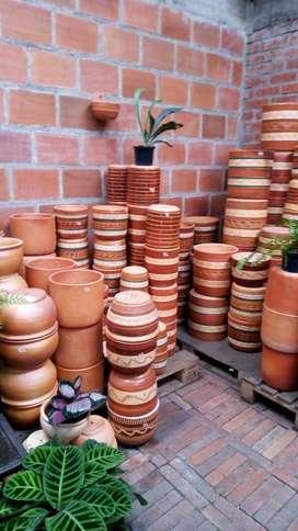 venta de matera de barro Raquira al por mayor y detal
