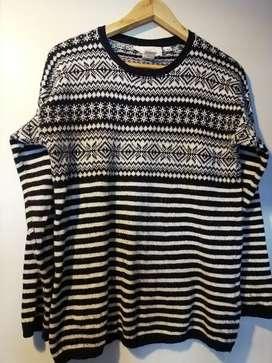 Sweater Lana Mujer Pulover H&m Talle SMALL Estilo Alpino USADO