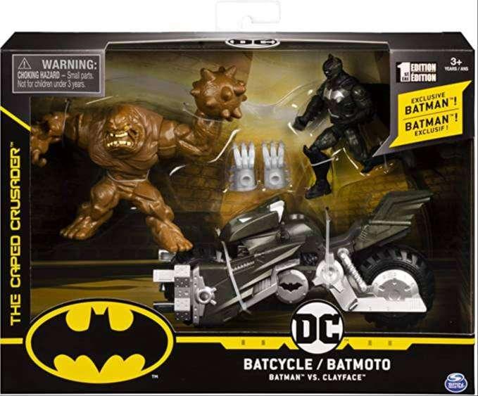 Batimoto, Batman y Clayface Batman Figuras articuladas de 10 cm de alto DC Comics Spin Master