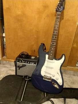 Guitarra Electrica Kansas + Amplificador Fender Frontman 10G