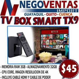 TV BOX TX9 4 GB Y 64 RAM  ANDROID 9.0