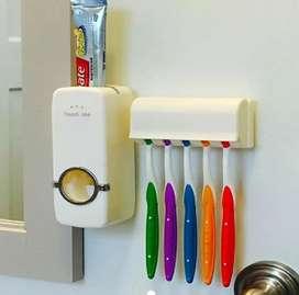Dispensador De Crema Dental Con Porta Cepillos