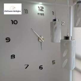 Hermoso reloj 3D de pared