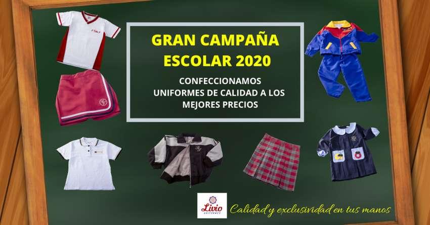 venta y confección de uniformes escolares para colegios!! - gran campaña 2020!!! 0
