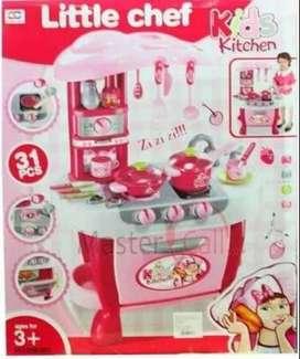 Cocina Infantil Juguete Niñas Con Horno Luz Sonido 31 Pcs En