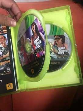 Juego de Xbox 360 GTA 4 edición completa como nuevo