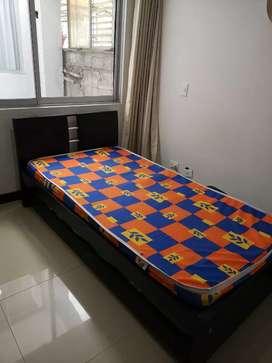 Cama nicho - cama tarima 90cm x 1.90m (Sencilla) y mesa auxiliar.