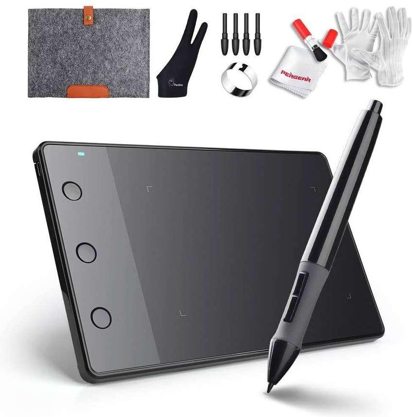 Kit Completo Tablet Grafica Para Dibujar Huion H420 Usb