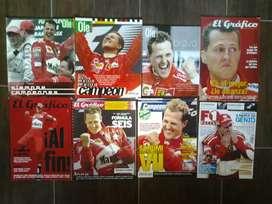 Colección revistas de Schumacher (1994-2014) y Vettel (2010-2013)