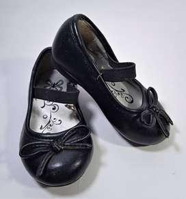 Zapatos Para Vestido, en Cuero negro, Niña