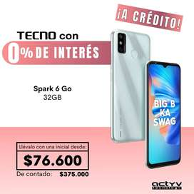 TECNO Spark 6 Go! 32GB ¡Llévalo a Crédito!
