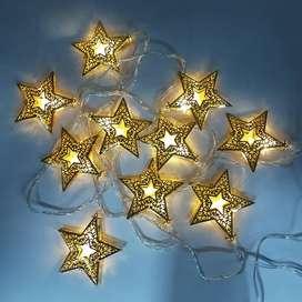 Extensión Luces Estrellas Metal 180cm Led X10 ZE044