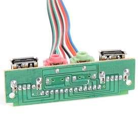 USB Panel Frontal SONIDO Microfono NUEVOS listo para conectar a Tarjeta Madre - 66666