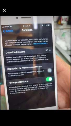Iphone 7 plateado