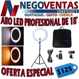 ARO LED FOTOGRAFICO DE 18 PULGADAS PROFESIONAL