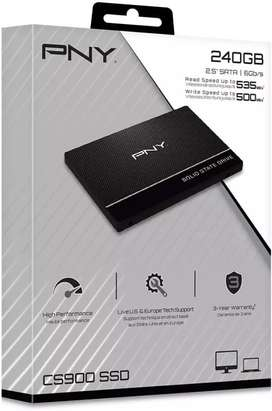"Disco Duro Sólido: PNY CS900 240GB 3D NAND 2.5"" SATA III Internal Solid State Drive (SSD)"
