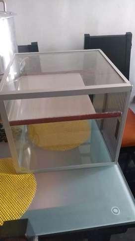 Vitrina de vidrio exhibidora
