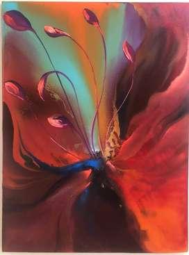 Cuadro Orquídea, en estilo óleo