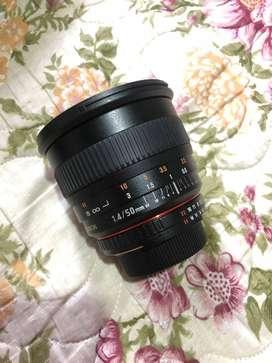 lente rokinon 50mm f1.4