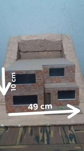MAQUETA casa de 2 pisos