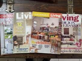 Lote Revistas Living, Casa & Country
