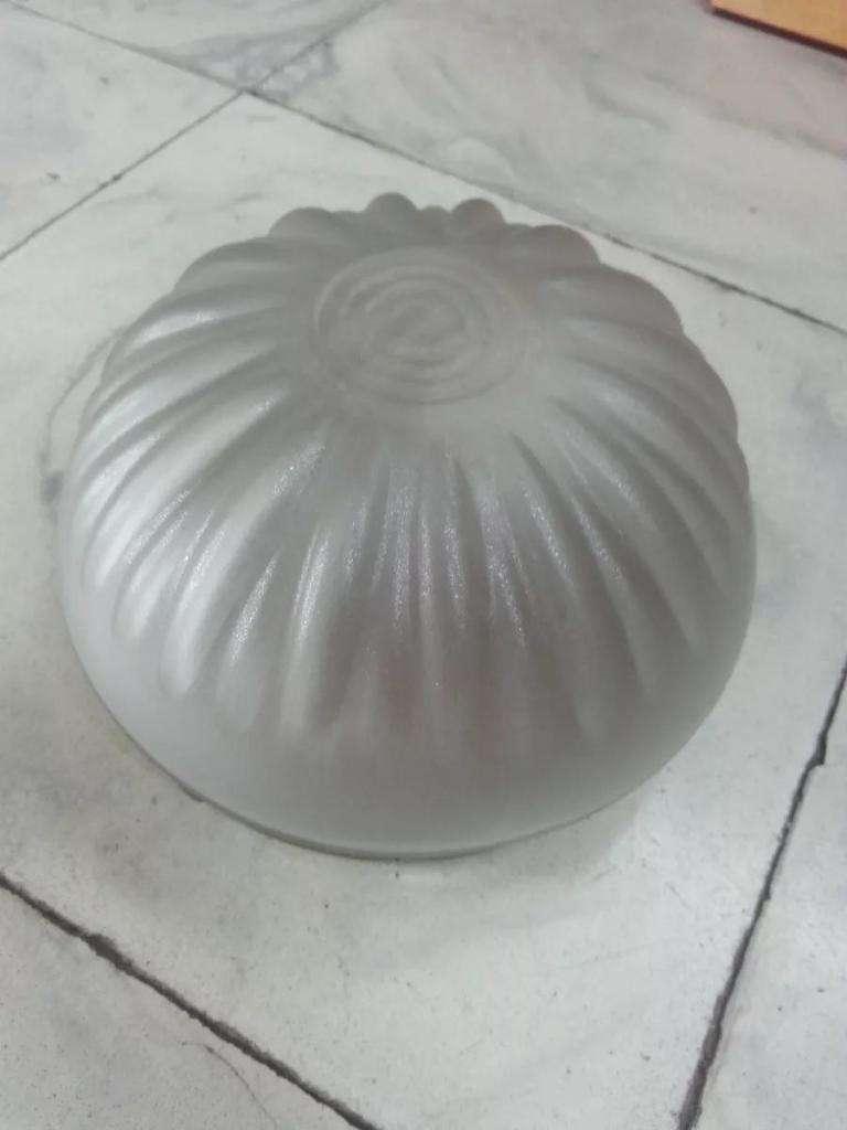 Plafon De Techo Antiguo En Cristal Opalizado 0