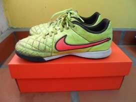 Botines Niño Nike Tiempo Genio Cuero Legitimo Talle 35.5 Exc estado