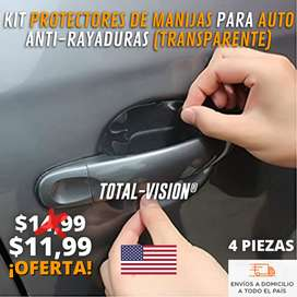 KIT PROTECTORES PARA MANIJAS DE AUTO TRANSPARENTES (4 PIEZAS)