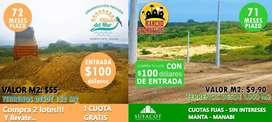 EN VENTA PROYECTOS EXCLUSIVOS!! MENSUALIDADES MINIMAS CON LOS SERVICIOS BASICOS EN MANABI   SD2