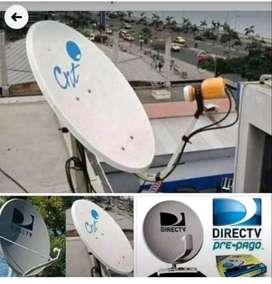 Te instalamos tu antena satelital directv o cualquier marca y el mejor servicio tecnico
