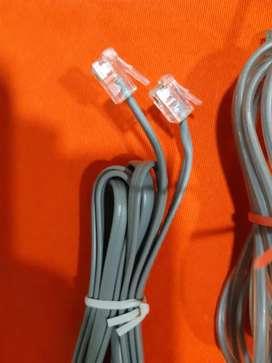 Cable telefónico para teléfono fijo de casa varios colores usado y nuevo