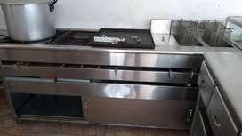 Cocina Industrial Plancha Con 2 Freidoras Remate