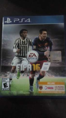 VENDO FIFA 2016 PS 4 FISICO IMPECABLE