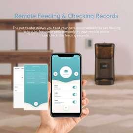 Comedero WIFI Programable Perros Y Gatos 6L+ App Android E IOS – PETRUST – Negro