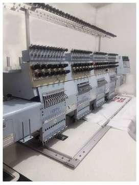 Bordadora Industrial Happy - 4 Cabezales - 12 Colores
