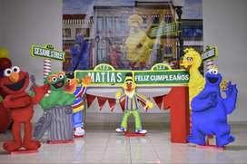 Decoración para fiestas de niños!! Figuras de Plaza Sésamo!!