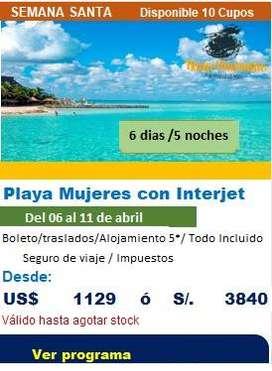 Viaje a Playa Mujeres oferta de viajes semana santa