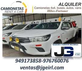 ALQUILER DE CAMIONETAS TOYOTA HILUX 4X4 EN HUANUCO , ALQUILER DE VANS, COMBIS , CUSTER , CAMIONETAS EN HUANUCO