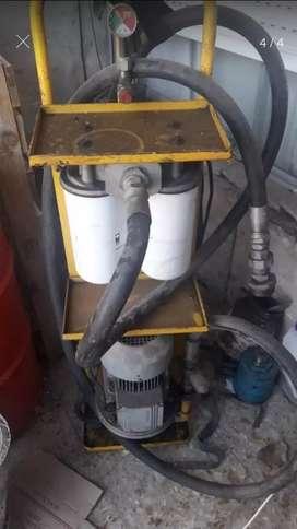 Equipo portati de trasvase y filtrado de aceite