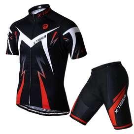 Conjunto de ropa camiseta y pantalón transpirable Manga Corta Ciclismo