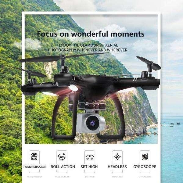 Drone wifi camara 2 mpx HD fpv Hj14 sensores HJjRC upgrade altura estable 0