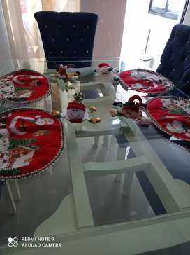 Individuales y porta vasos navideños