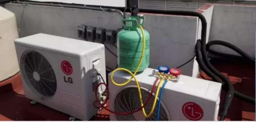 Carga de gas aire acondicionado 0