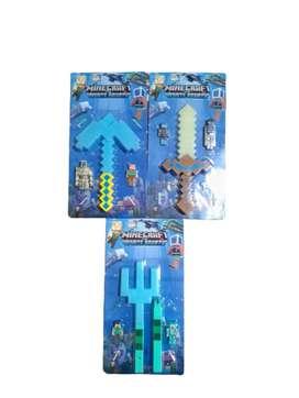 Set De Armas Minecraft Con Figuras Coleccionables